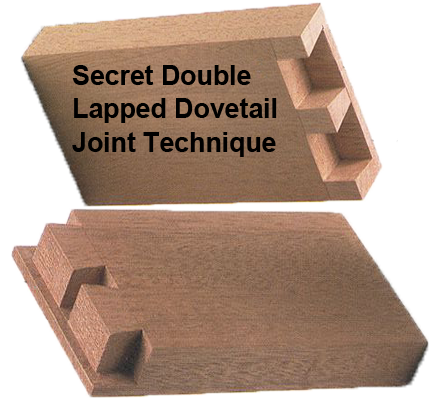 Secret Double-Lapped Dovetail Joints Techinique Images