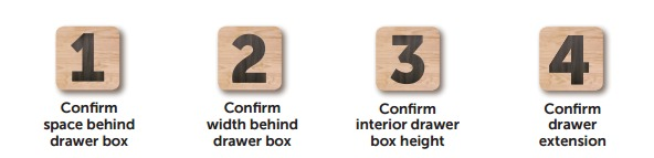 Confirm Drawer Specifications For Power Outlet Installation