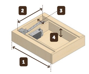 Pull Out Drawer Kit With Power Outlets