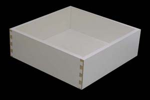 White Melamine Pull Out Drawers