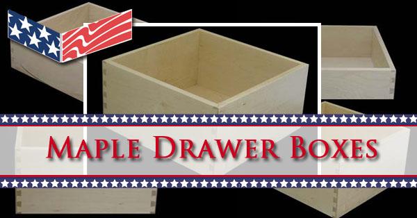 Maple Drawer Boxes - DCDrawers.com